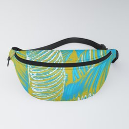 Colorful Leaves Lovely Turquoise #society6 #decor Fanny Pack
