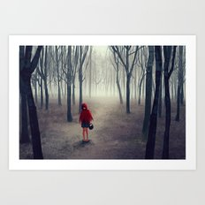 Away from light Art Print