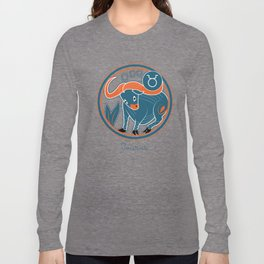 Taurus Zodiac Sign Long Sleeve T-shirt