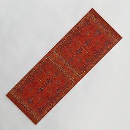 N194 - Red Berber Atlas Oriental Traditional Moroccan Style Yoga Mat