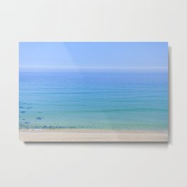 Turquoise Sea View, Porthmeor Beach St Ives Cornwall - Landscape and Nature Photography Metal Print