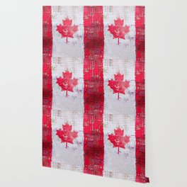 Canadian Flag Painting Tote Bag Abstract Maple Leaf Canada Wallpaper