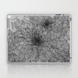 Linework Zinnias Laptop & iPad Skin