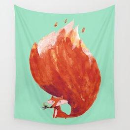 Kitsune (Fox of fire) Wall Tapestry