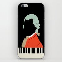 mozart iPhone & iPod Skins featuring Mozart  by Prelude Posters