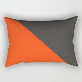 Orange gray pattern Rectangular Pillow