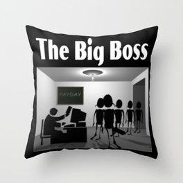 The Big Boss Throw Pillow