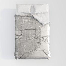 Miami White Map Comforters