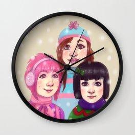 Christmas sisters Wall Clock