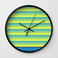 bands Wall Clocks featuring Bands by HELLO MART