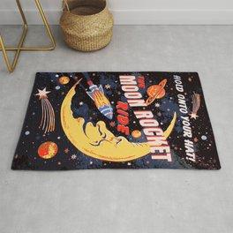 Rocket Moon Ride (vintage) Rug
