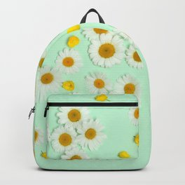 Composition of daisies and buttercups Backpack