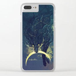 The Fox who talked the Moon and the Stars Clear iPhone Case