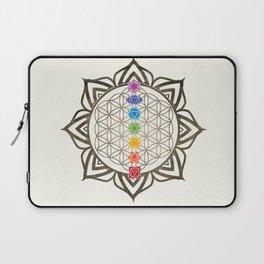 Flower of Life Chakra Healing Mandala Laptop Sleeve