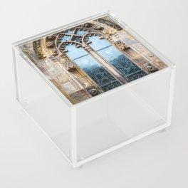 Stained glass window of Rosslyn Chapel outside Edinburgh, Scotland Acrylic Box