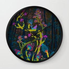 Magic mushrooms Wall Clock