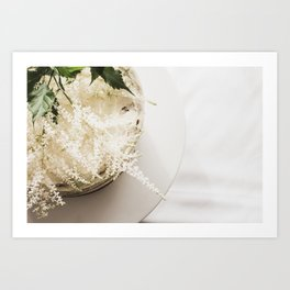 White Naked Cake Art Print