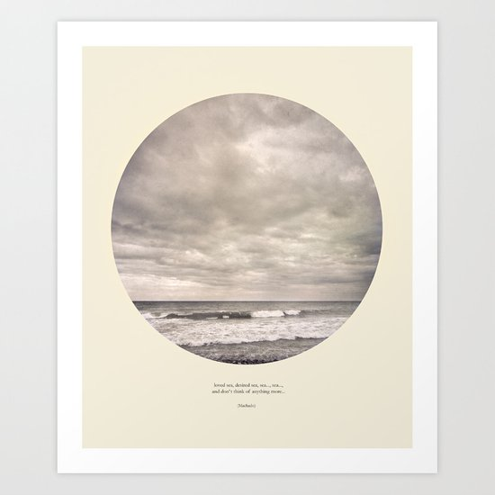 love the sea.... Art Print