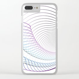 Lineal minimal song Clear iPhone Case