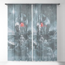 Audience With The Titan Sheer Curtain