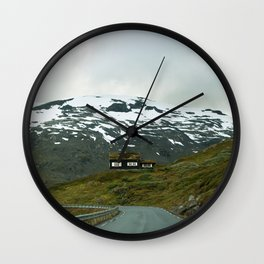 Cabin in the Mountains (Norway) Wall Clock