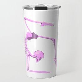 Skeleton in Scorpion Pose Travel Mug