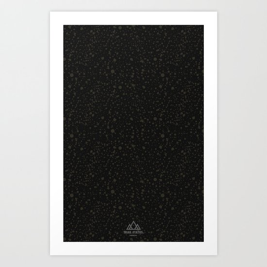 Trail Status / Technical Black Art Print
