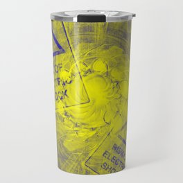 Abstract risk of electric shock Travel Mug