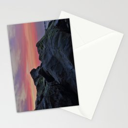 Happisburgh sea defences at sunset Stationery Cards