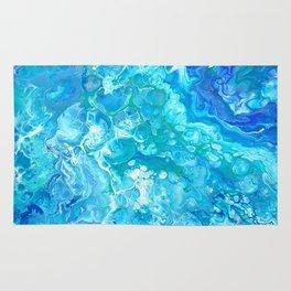 Aqua Ocean Blue Rug