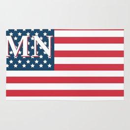 Minnesota American Flag Rug