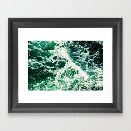Green Seas Framed Art Print