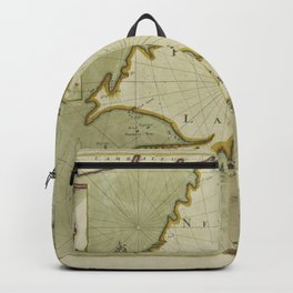 A chart od Iland of NEW FOUND LAND with paticular harbors atlarge Backpack