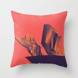 Futuristic Monuments Of Old Yugoslavia Throw Pillow