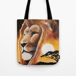 Animal - Lion - Quiet strength - by LiliFlore Tote Bag