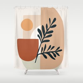 Geometric Shapes Shower Curtain