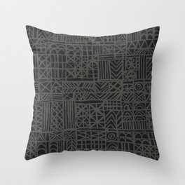 Abstract Pattern in Midnight Throw Pillow