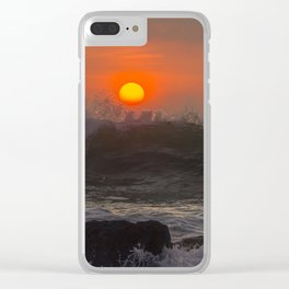 Summer Waves Clear iPhone Case