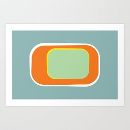 Mod Pod -Retro Turquoise Orange Art Print