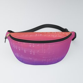 Sheet Music - Rainbow Partiture Fanny Pack