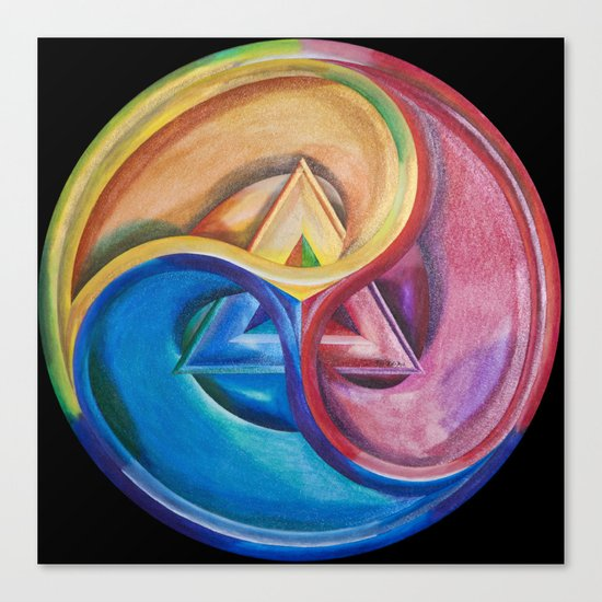 Primary triangle Canvas Print