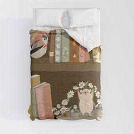 cottage bookshelf Comforters