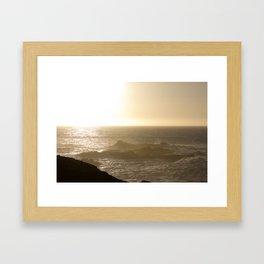 California Ocean at sunset Framed Art Print