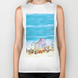 geula beach, tel aviv Biker Tank