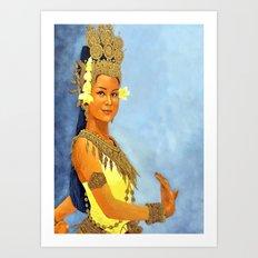 Apsara Girl Art Print