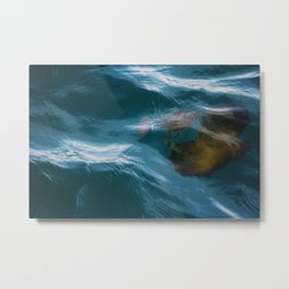 under sea jelly Metal Print