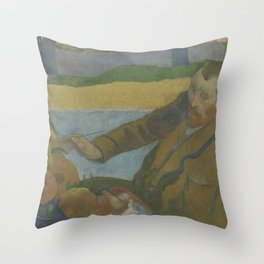 Vincent van Gogh Painting Sunflowers Throw Pillow