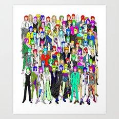 Bowie Punks in Tokyo Art Print