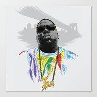 notorious Canvas Prints featuring Notorious by Tecnificent