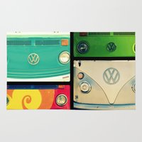 vw Area & Throw Rugs featuring VW Collage by RDelean